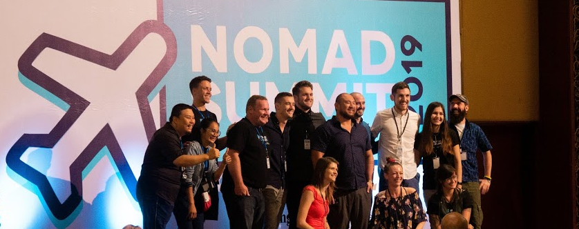 nomad summit on the stage in 2019 chiang mai
